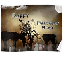 Happy Halloween Night Card Poster
