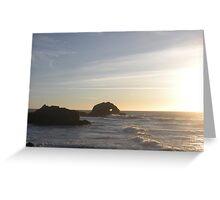 Love Rock at Sunset Greeting Card