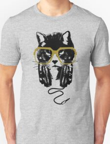 Hip Hop Angry Cat Design Unisex T-Shirt