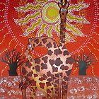 Giraffe family by Corrina Holyoake