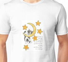 Moon and Stars Cat Unisex T-Shirt