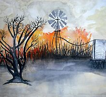 Bush fire by Corrina Holyoake
