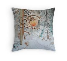 A winters stroll Throw Pillow