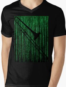 Matrix Musician - Trombonist Mens V-Neck T-Shirt