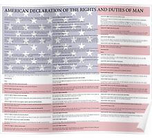 American Declaration of the Rights and Duties of Man Light Background Poster