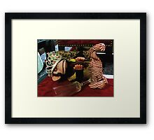 Musical Jolly Chimp Parties Too Hard Framed Print