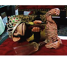 Musical Jolly Chimp Parties Too Hard Photographic Print