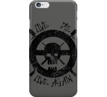I live again (black) iPhone Case/Skin