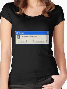 504 Error... Women's Fitted Scoop T-Shirt