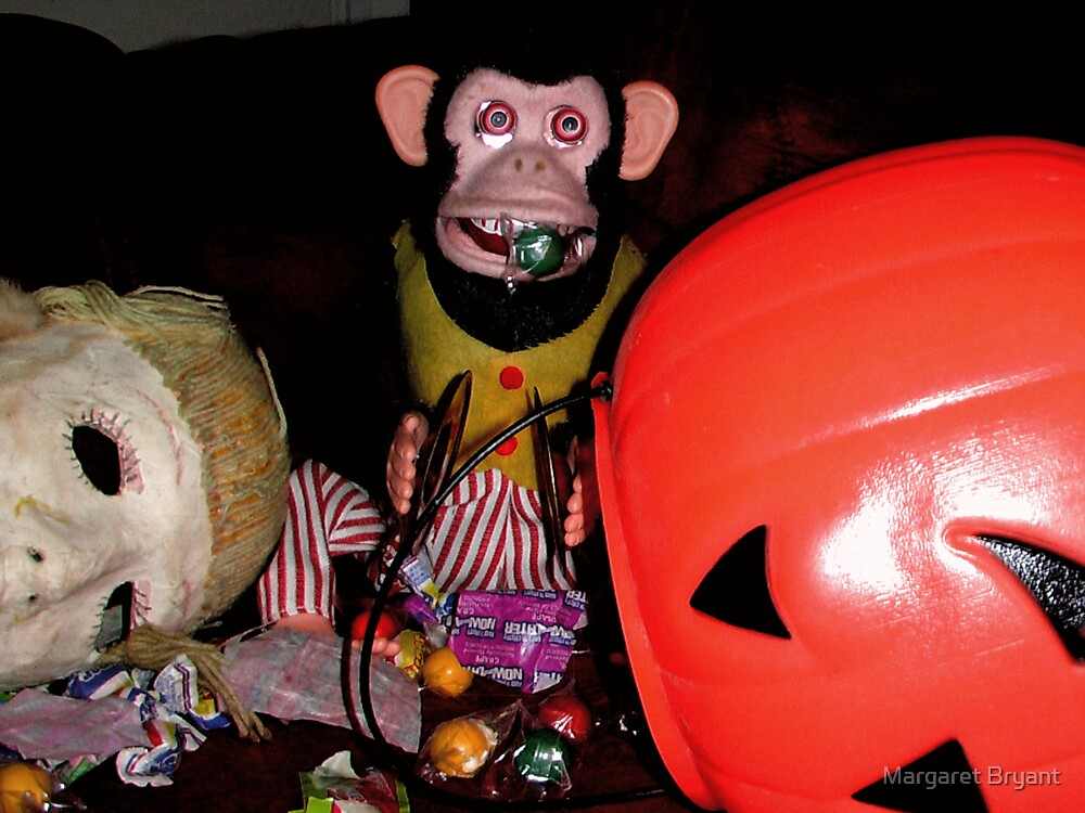 Musical Jolly Chimp Gorges on Candy by Margaret Bryant