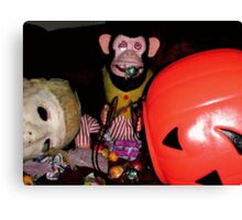 Musical Jolly Chimp Gorges on Candy Canvas Print