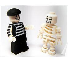 Mr.Mime & Skeleton Poster
