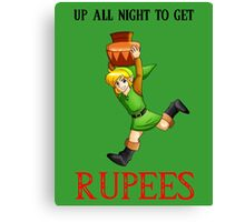 Up All Night To Get Rupees Canvas Print