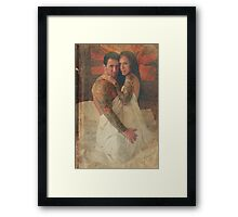 Bed On Fire Framed Print