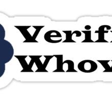 Verified Whovian Sticker