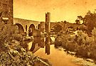 El Pont Viel, Besalú by Nigel Fletcher-Jones