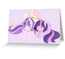 BFFS - My little pony (fluttershy, starlight glimmer & twilight sparkle) Greeting Card