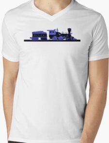 train blue Mens V-Neck T-Shirt