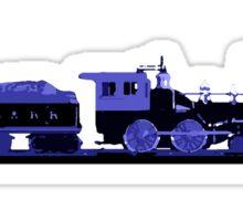 train blue Sticker