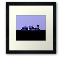 train blue Framed Print