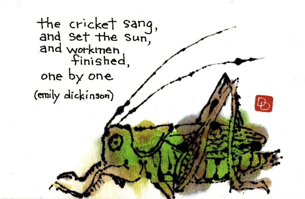 Singing Cricket by dosankodebbie