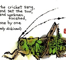 Singing Cricket by dosankodebbie