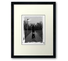 Handstand (Border) Framed Print