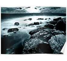 Nocturnal Ambience on Coast Poster