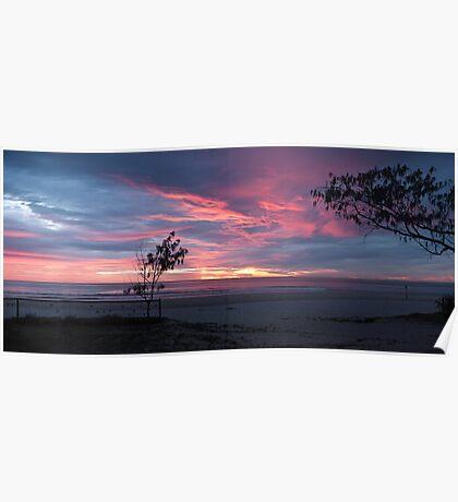 Swell sunrise sans sculptures Poster