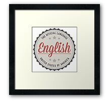 The Official Language Framed Print