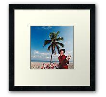 just-a-pose (juxtapose) Framed Print
