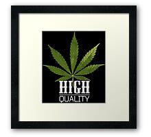 Marijuana High Quality Framed Print