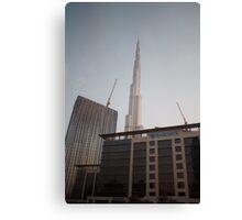 Dubai Construction Canvas Print