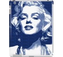 Marilyn Monroe with blue text iPad Case/Skin