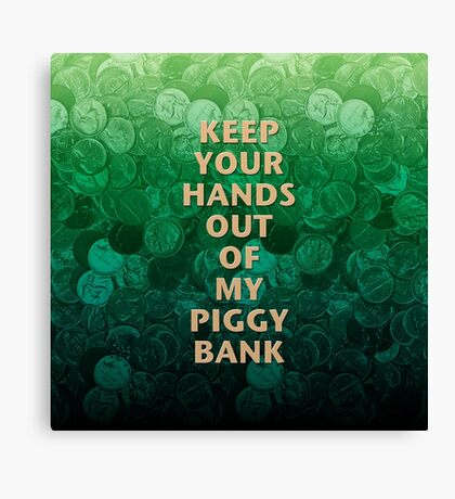 Private Property Piggy Bank Canvas Print