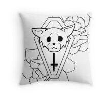 Kitty Casket Throw Pillow