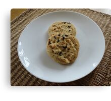 White Chocolate and Blueberry Luxury Cookies Canvas Print