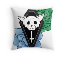 Kitty Casket Colour Throw Pillow