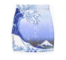 Surf's Up! Great Wave, Hokusai Mini Skirt