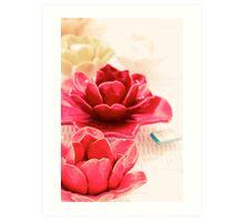 Lotus Of Laying Down Art Print