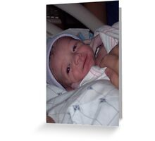 Grandson baby Lucas! Greeting Card