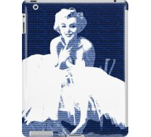 Marilyn Monroe in white dress with blue text iPad Case/Skin