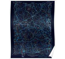 Massachusetts  USGS Historical Topo Map MA Norton 352009 1944 31680 Inverted Poster