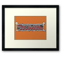 JDWOODYARD HALLOWEEN Framed Print