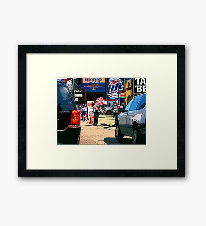 e-z out parking, chicago cubs Framed Print
