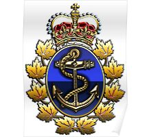 Canadian Forces Naval Operations Logo Poster