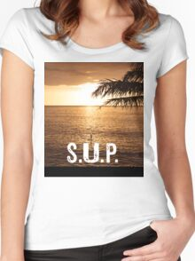 SUP - Stand Up Paddle Boarding  Women's Fitted Scoop T-Shirt