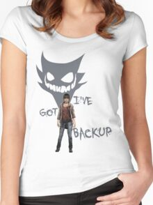 Two Souls - Backup - Color Women's Fitted Scoop T-Shirt