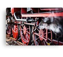 Wheels of steam Canvas Print