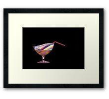 Glowing drink Framed Print